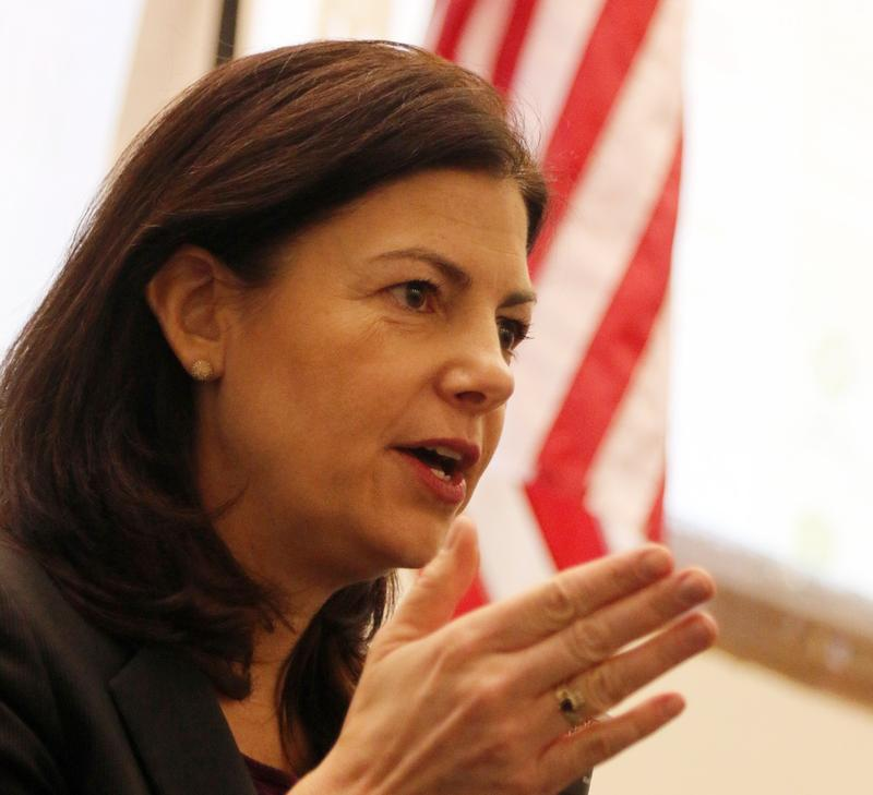 Sen. Kelly Ayotte at a town hall event in January.