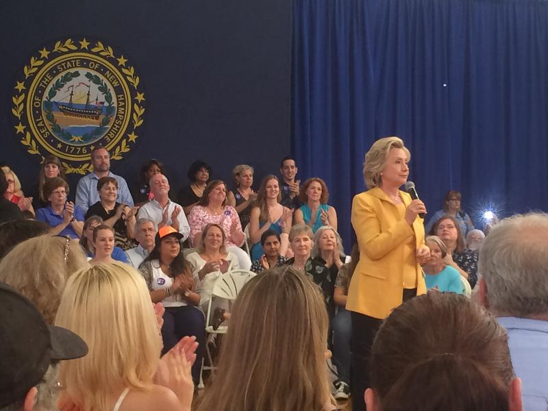 Hundreds of people attended Hillary Clinton's town hall event in Nashua on Tuesday.