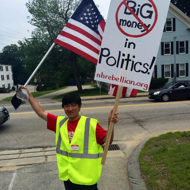 Taisuke Iwasaki marches in the New Hampshire Rebellion's July 4th Walk from Rochester to Portsmouth