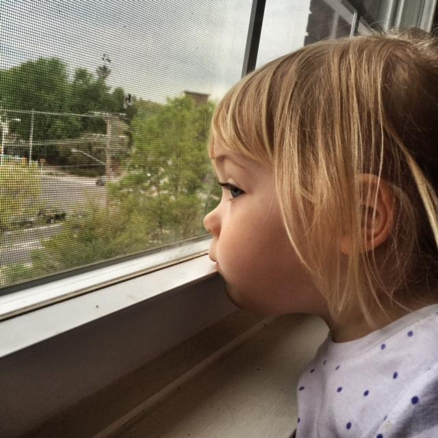 When Eric Fleming took this photo of his two-year-old daughter at their home in Manchester's Mill West development, he did not know the windowsill was coated in lead dust.