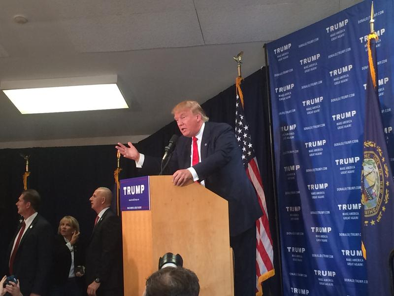 Donald Trump told the crowd that what makes him a good candidate is that he is a businessman not a politican.
