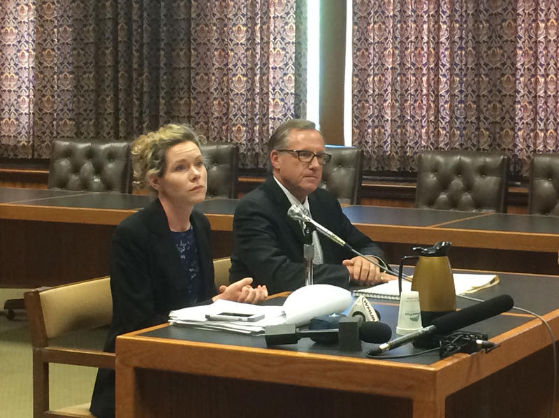 Jack Wozmak, the state's drug czar, (right) attended the fiscal committee meeting on Wednesday.
