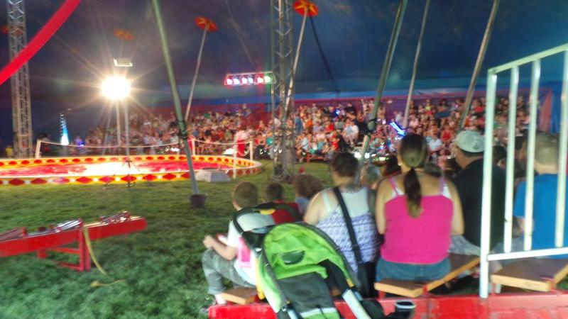 This photo, taken from the Walker Brothers Circus website, shows the interior of the tent during a performance in Maine.