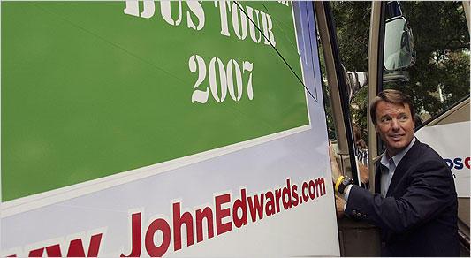 John Edwards in N.H. in 2007