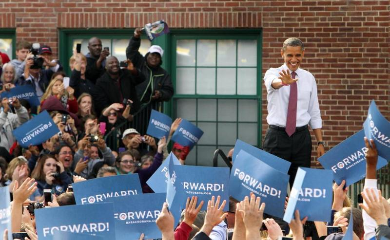 President Obama at the Elm St. School in Nashua in 2012