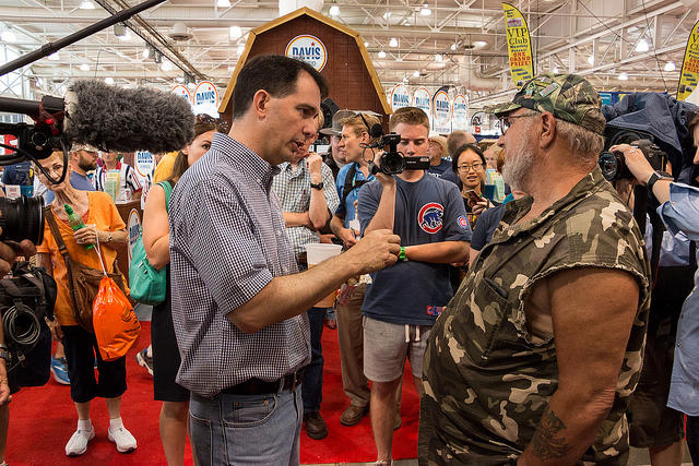 Scott Walker at the Iowa State Fair