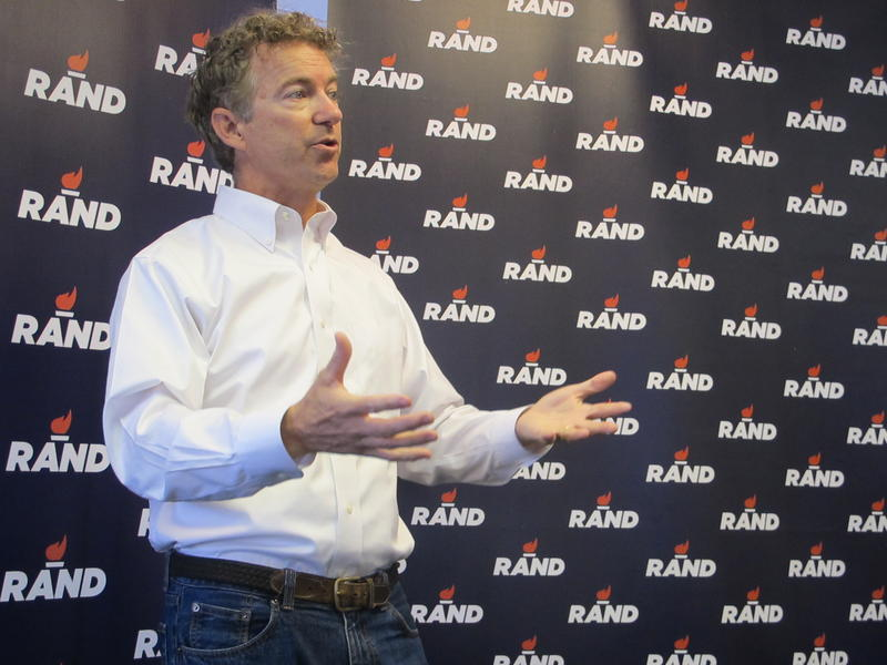 Rand Paul at Jo Green's Garden Cafe in Wolfeboro