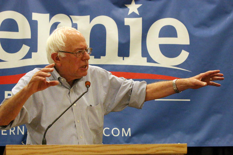 Sen. Bernie Sanders, who is running for president as an Independent, appeared at Southern New Hampshire University on Saturday, August 1, 2015