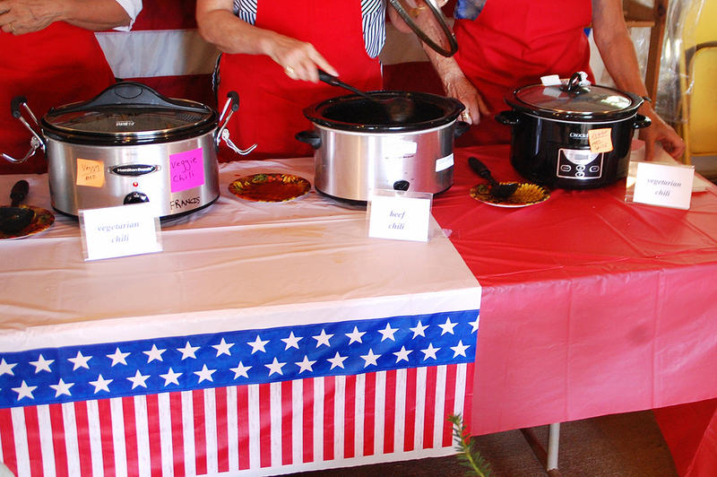 Some of the chili choices on hand at the Seacoast Republican Women Chili Fest in Stratham, September 12, 2015.