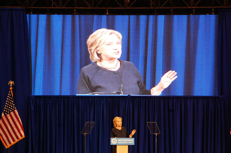 Former Secretary of State Hillary Clinton speaks at the New Hampshire Democratic Party convention in Manchester, September 19, 2015.