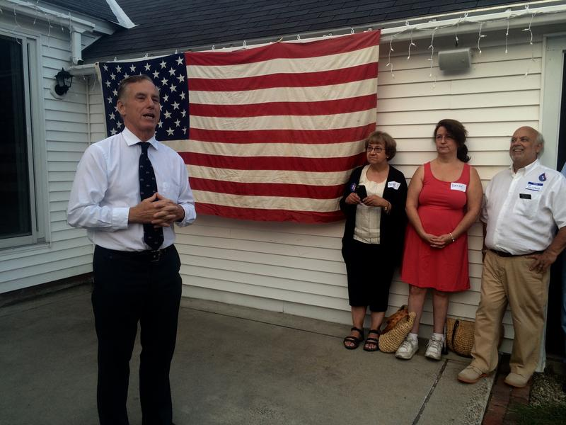 Howard Dean stumped for Hillary Clinton at a house party in Keene Wednesday night.