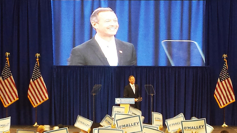 Former Maryland Governor Martin O'Malley speaks at the New Hampshire Democratic Party convention in Manchester, September 19, 2015.