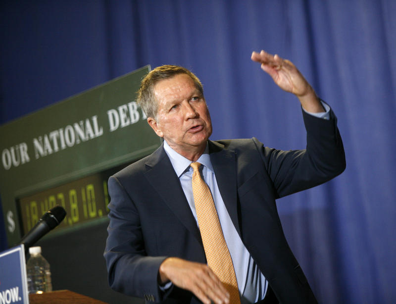 Republican Presidential Candidate and Ohio Gov. John Kasich visited and spoke at Nashua Community College on Thurs., Oct. 15, 2015.