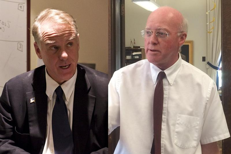 Howard Dean, left, and Bill Gardner, who is once again finding himself at the center of some drama over the status of the state's primary.