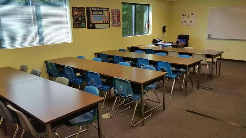 A classroom at the Granite State Arts Academy charter school in Derry