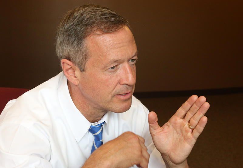 Martin O'Malley told NHPR although the debate got his name out there, his campaign still has a long way to go.
