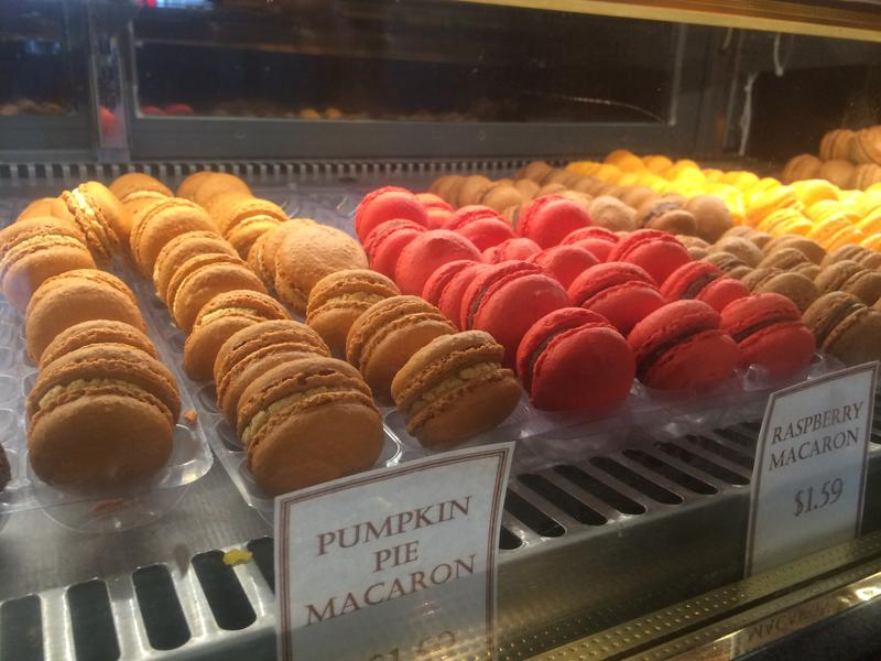 At Finesse Pastries in Manchester they make pumpkin pie macaroons, pumpkin Napoleon, pumpkin cake, etc.