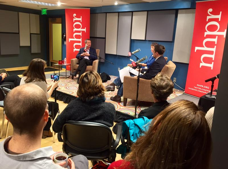 Kasich talks with NHPR's Laura Knoy and Senior Political Reporter Josh Rogers