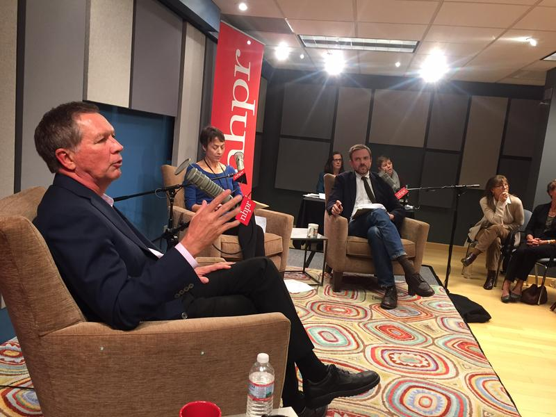 Kasich answers a question from the audience