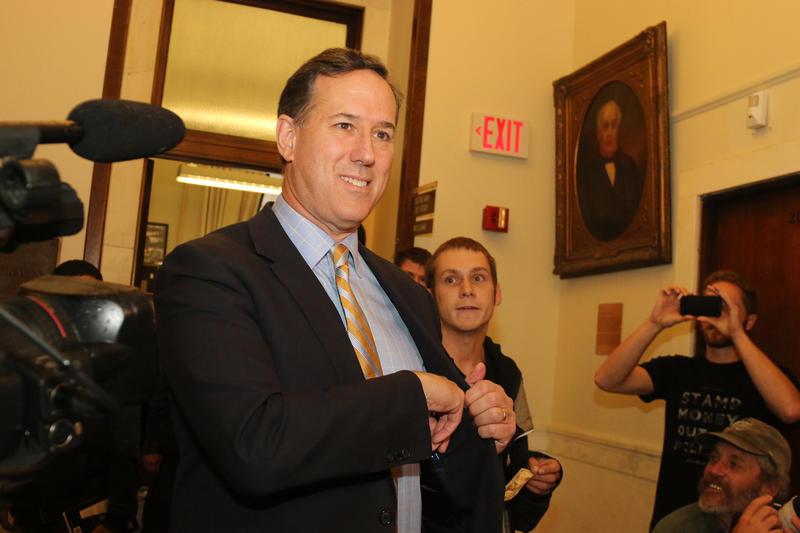 Rick Santorum files his candidacy on Nov. 12, 2015