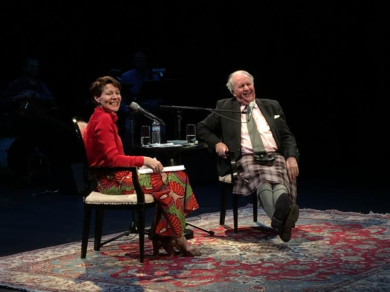 Virginia Prescott and Alexander McCall Smith at The Music Hall