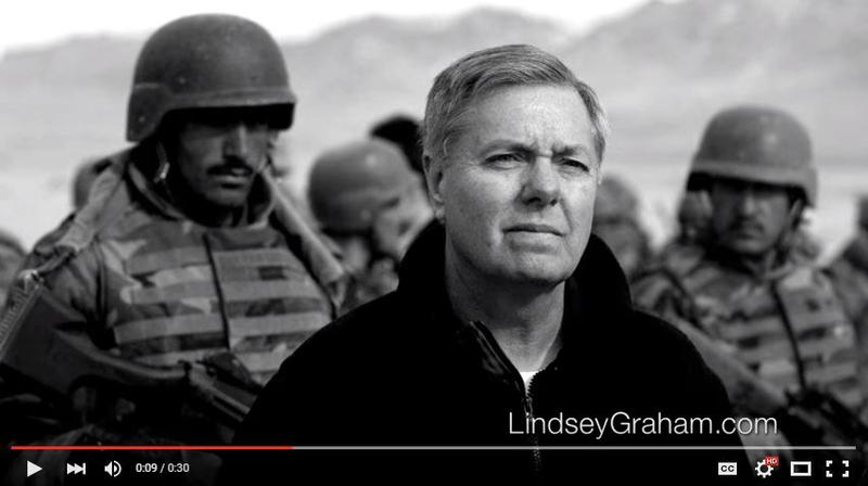 Screenshot from Lindsey Graham's first television ad in N.H.