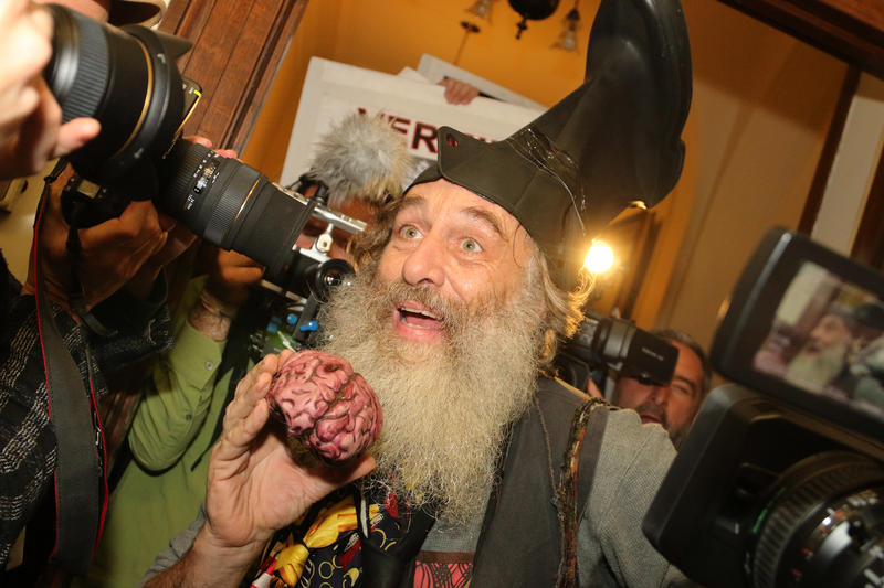 Vermin Supreme of Rockport Massachusetts has been on the N.H. Primary ballot since 2008.