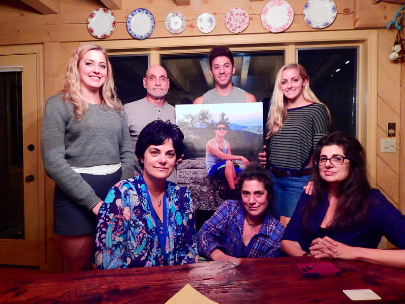 (Left cousin Sofia Ford, step dad Ron Croce, younger brother Ryan Belanger, cousin Eva Ford, aunt Nena Stracuzzi, mother Lisa Stracuzzi, aunt Francesca Kennedy.)