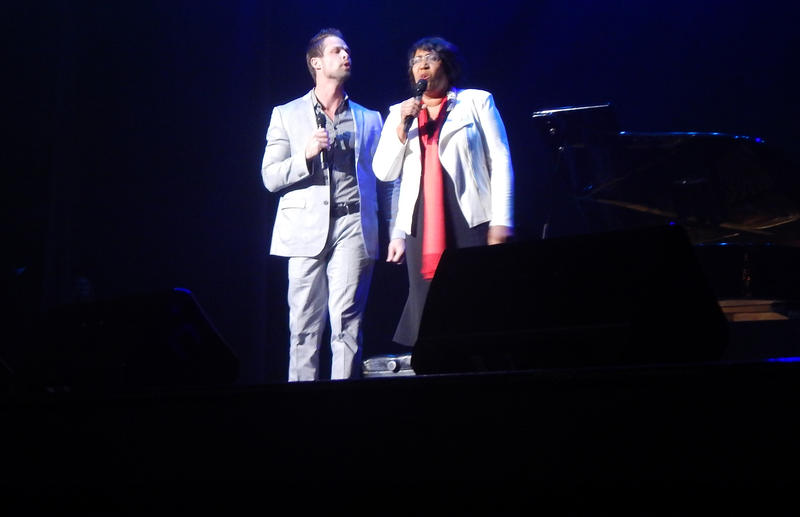 Candy Carson also performed with Aaron Crabb, who is part of the southern gospel group, The Crabb Family.