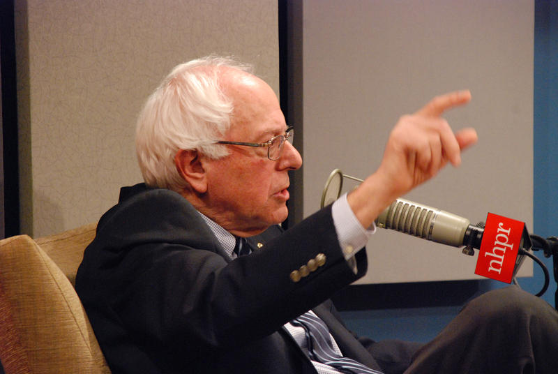 Sanders spoke about his desire to reform campaign finance at an NHPR forum taped for The Exchange