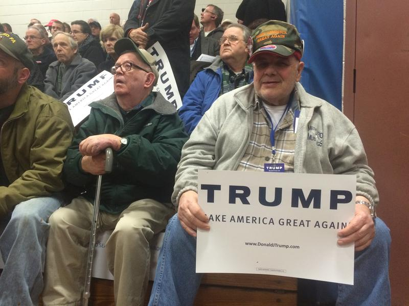 This is the 6th Donald Trump rally that Rich Travers of Everett, Mass. has attended.