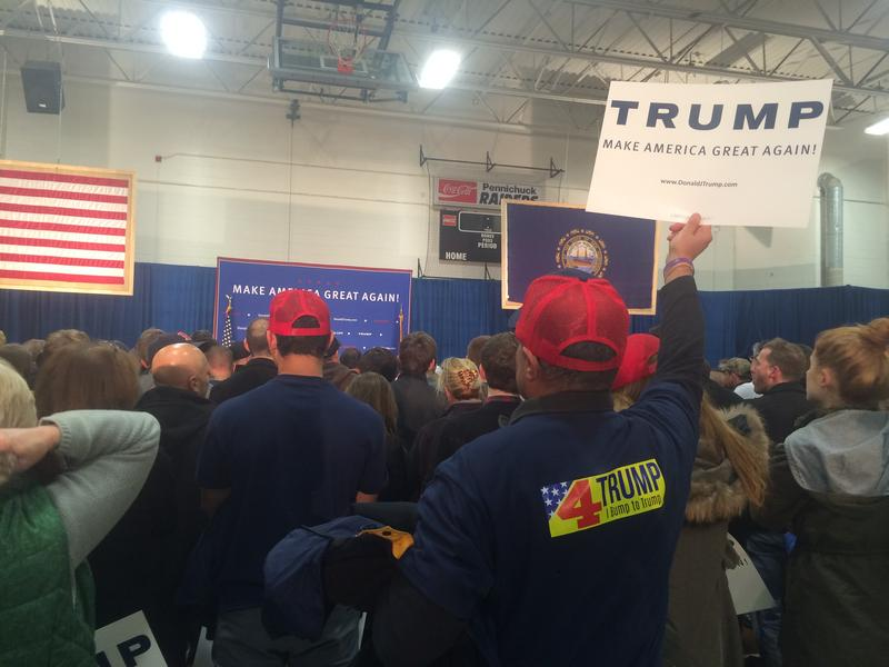 Hundreds of people attended a Donald Trump rally in Nashua Monday, Dec. 28, 2015.
