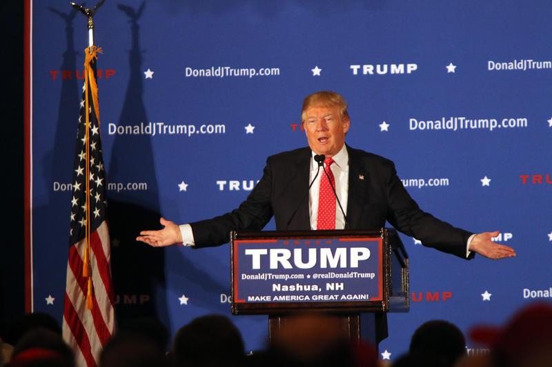 Trump at his rally in Nashua Friday