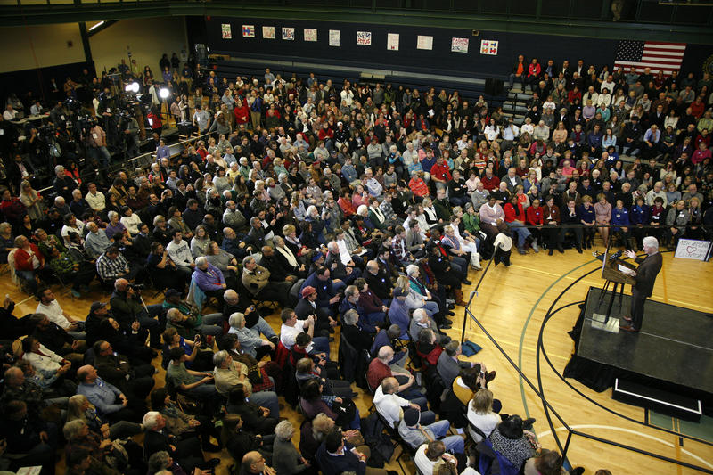 More than 700 people came out to hear Bill Clinton stump for Hillary in Nashua Monday, January 4, 2016.
