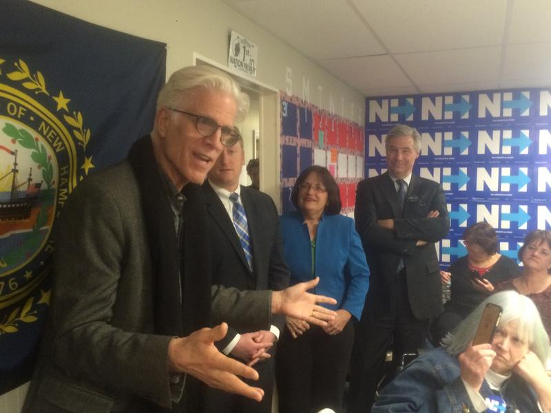 Actor Ted Danson stumped for Hillary Clinton this past weekend in New Hampshire.