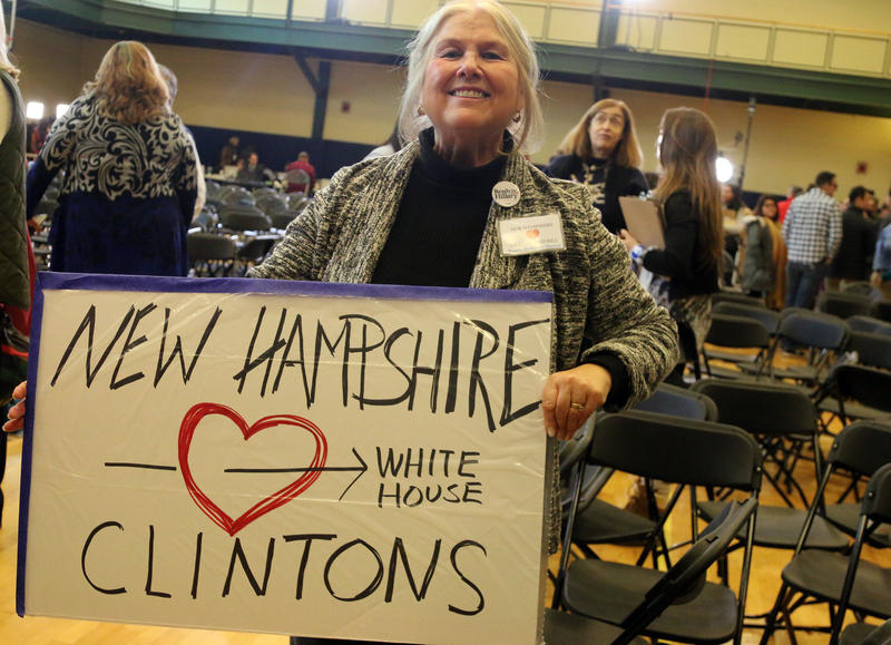 Nancy Richards-Stower of Merrimack has been a Hillary Clinton supporter since she worked on her husband's first presidential campaign in 1991.