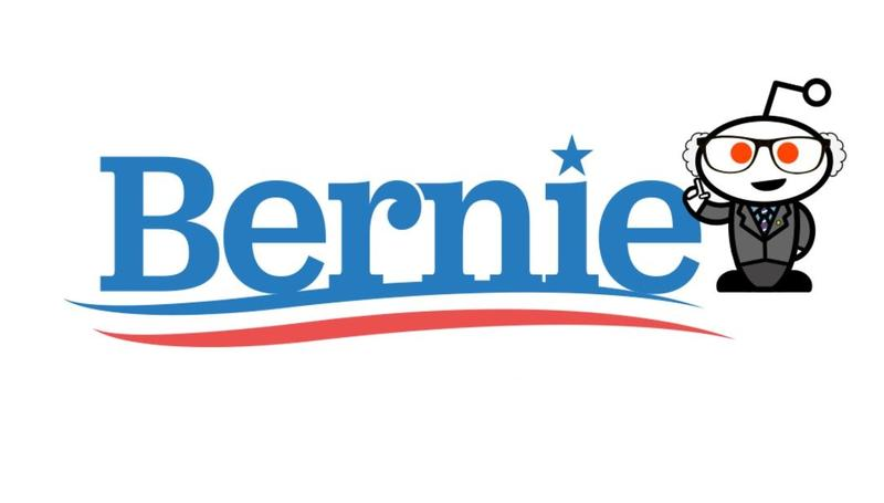 Bernie Sanders' branding on reddit