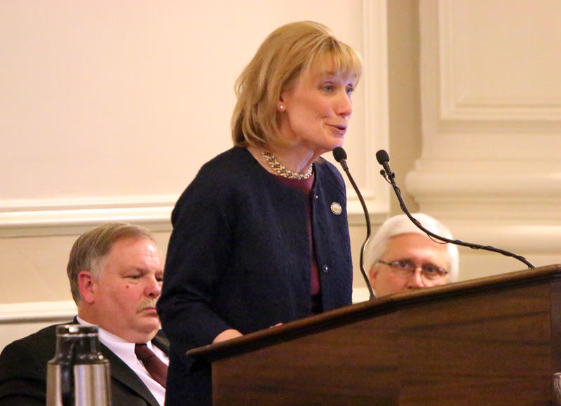 Gov. Maggie Hassan delivers her final State of the State address on Feb. 2, 2016 at the State House.