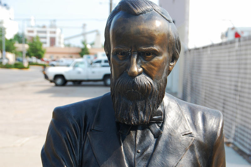 "A statue of former President Rutherford B. Hayes one of the ""City of Presidents"" statues in Rapid City, SD."