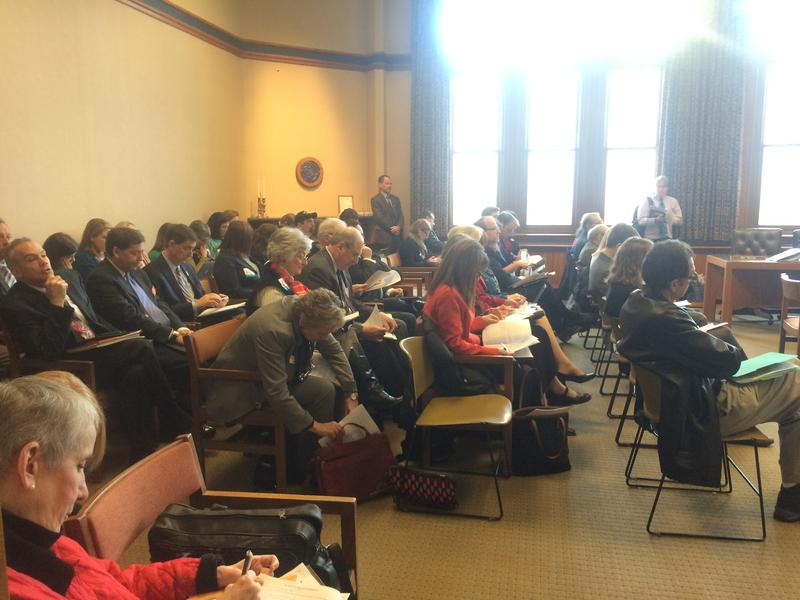 House Finance was packed on Wednesday as more than a dozen people lined up to testify on continuing Medicaid expanision.
