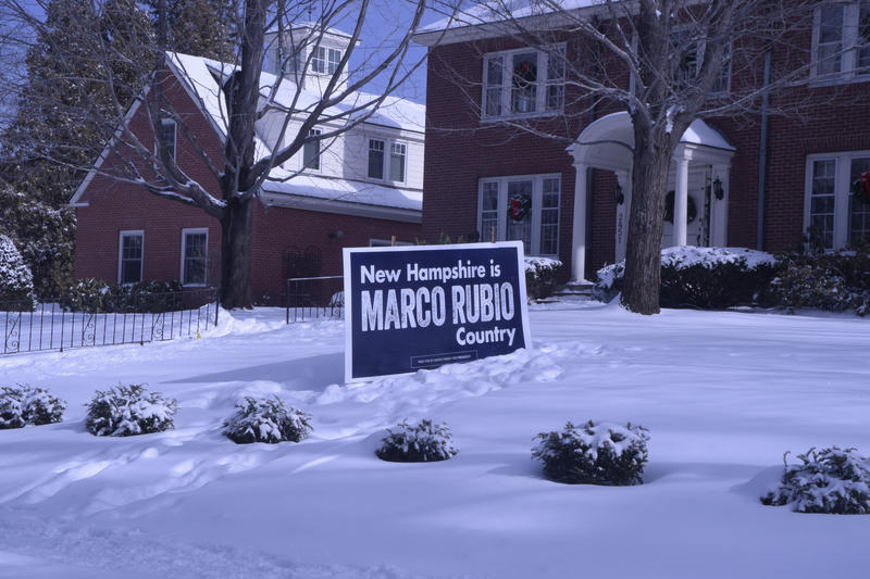 A yard sign in Manchester's Ward 1