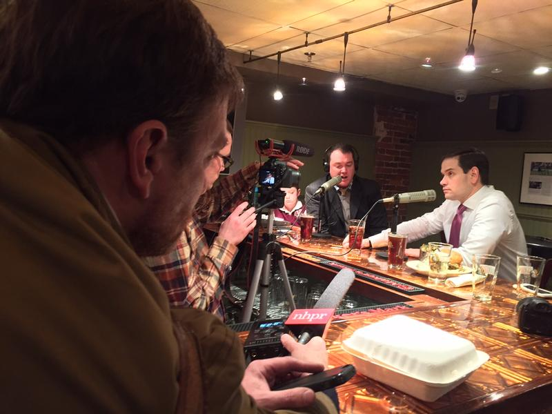 Rubio at a campaign appearance at the Barley House in Concord Monday