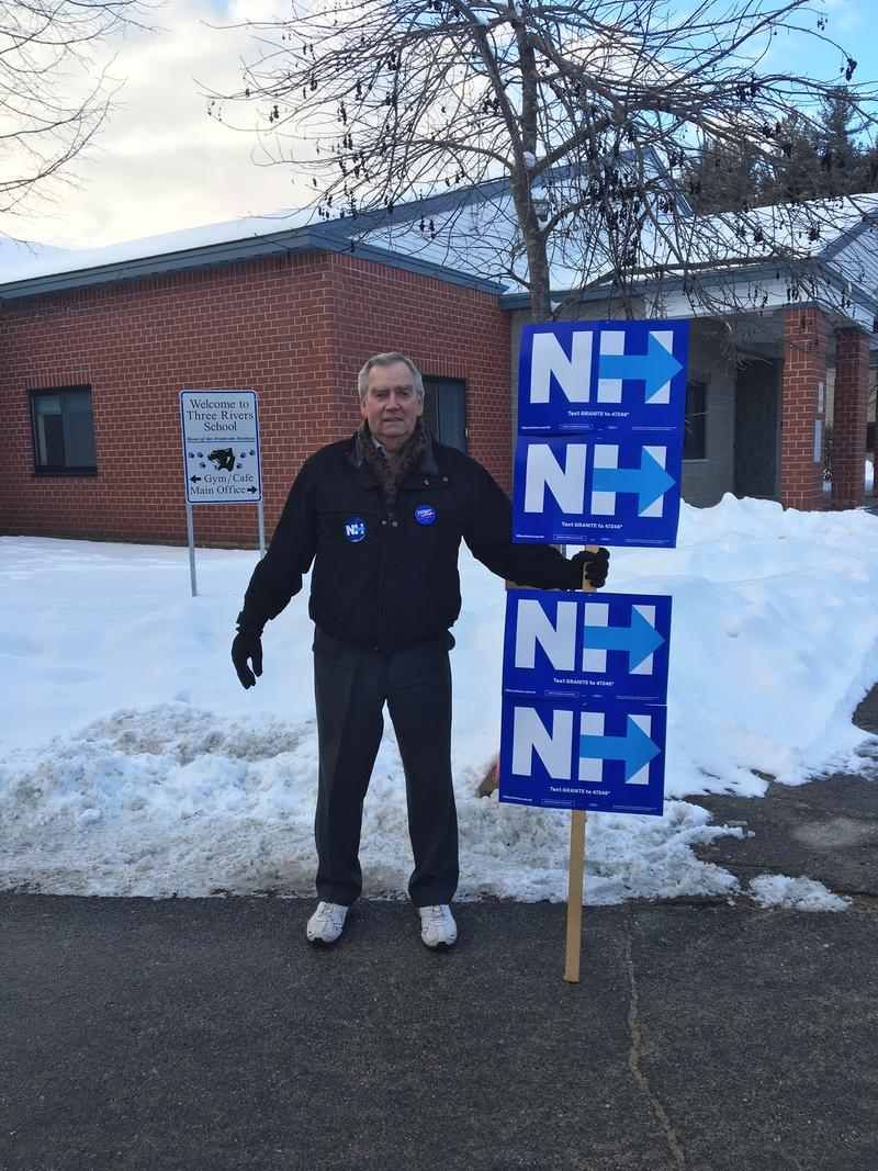 Richard Nadeau of Pembroke outside the polling station in Pembroke.