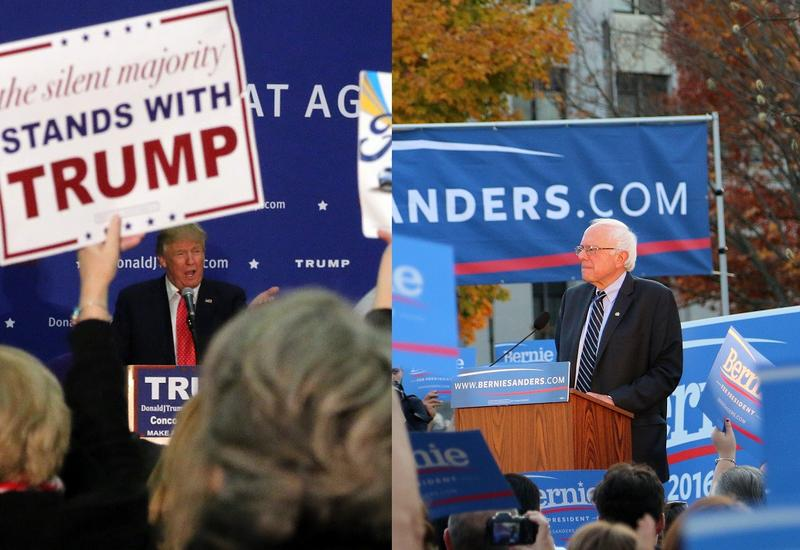 Donald Trump and Vermont Senator Bernie Sanders won their respective primaries in New Hampshire