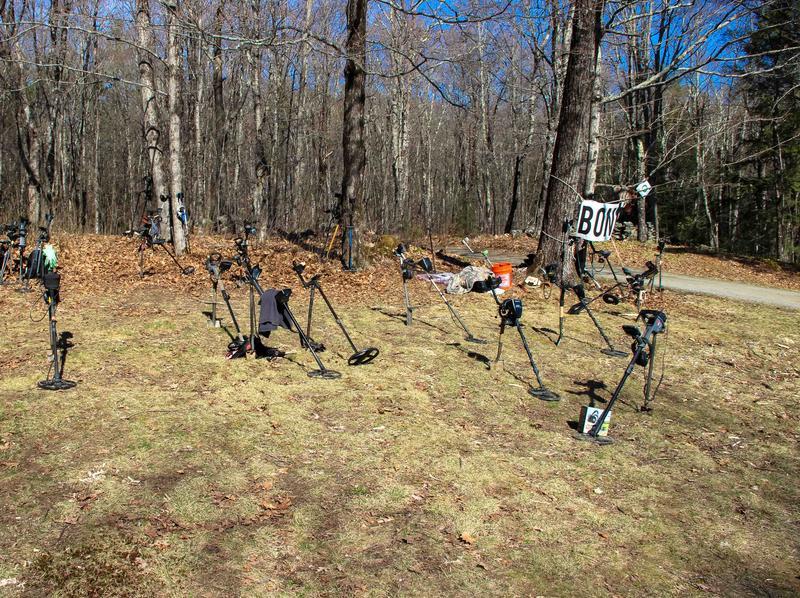 Metal detectors at B.O.N.E. 23.