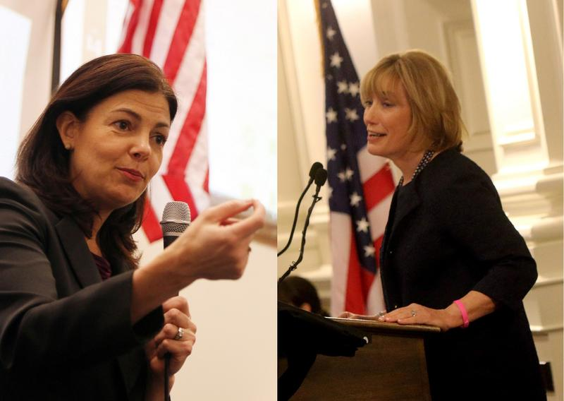 Republican Senator Kelly Ayotte, and her challenger, Democratic Gov. Maggie Hassan