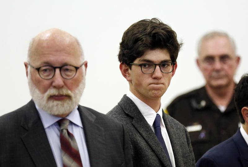 Owen Labrie, 20, was out on bail after being sentenced to one year in October 2015 but his bail was revoked last month for breaking his curfew.