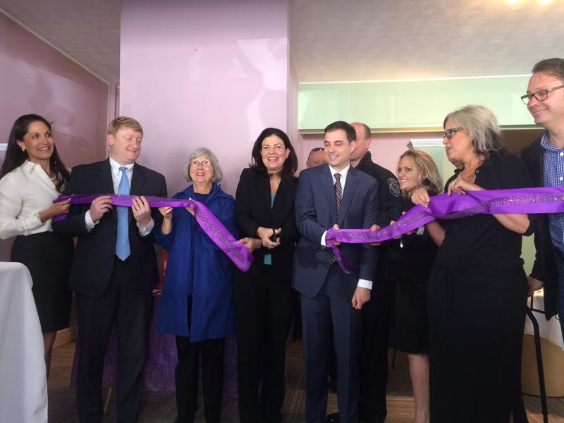Hope for New Hampshire Recovery opened its third office in Concord Monday morning. U.S. Senator Kelly Ayotte (center), State Senator Dan Feltes (left)  and the State Drug Czar James Vara (right) were all in attendance.