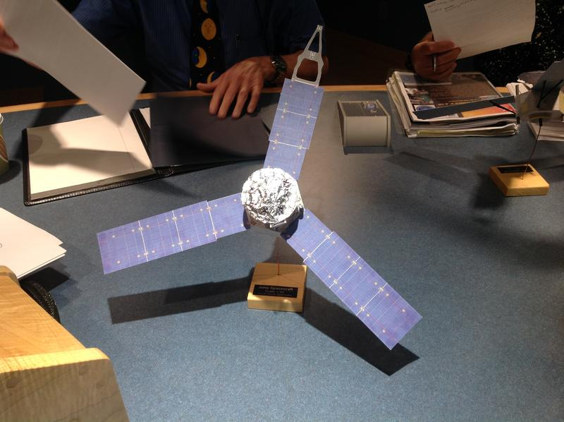 Mal Cameron built this model of the Juno spacecraft. It has landed in The Exchange hub.
