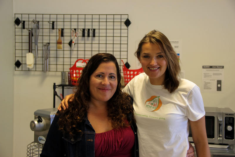 Sonia Farris (left) and Kasia Lojko of All Real Meal.